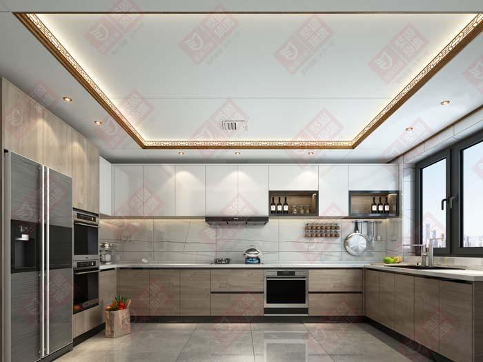 金盾顶美顶墙厨房新装修效果图
