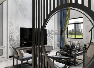 德莱宝无界大板新中式风,73㎡精致套内,一个被艺术偏爱的家!